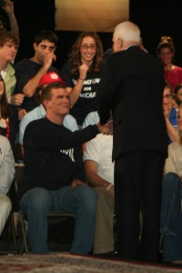 Our very own sports editor and writer gets to shake Senator McCain\'s hand